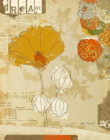 Collaged Botanicals II von Katie Pertiet