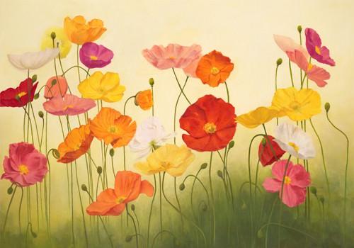 Sunlit Poppies von Janelle Kroner
