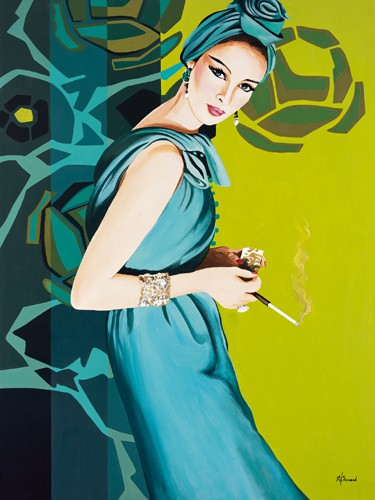 Femme Cigarette von Anne Bernard