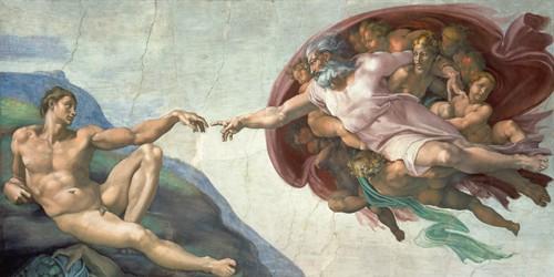 Die Erschaffung des Adams von Michelangelo