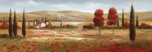 Tuscan Poppies II von Nan