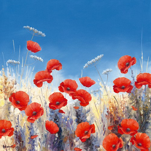 Poppy Meadow I von Hilary Mayes