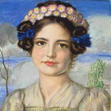 Bildnis der Tochter Mary von Franz Von Stuck