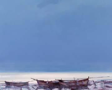 Boats Evening von Alexander Zhernokluev