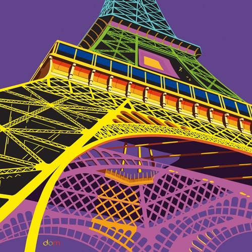 Tour Eiffel Happy von Dominique Massot