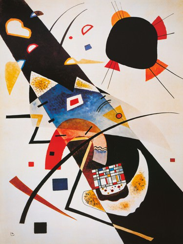 Deux taches noires, 1923 von Wassily Kandinsky