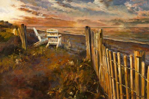 The Beach at Sunset von Marilyn Hageman
