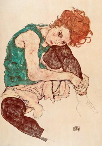 Sitzende Frau von Egon Schiele