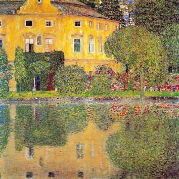 Schloss Kammer am Attersee von Gustav Klimt