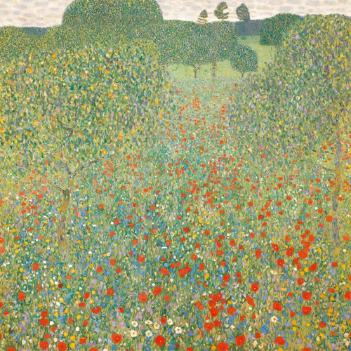 Mohnwiese von Gustav Klimt