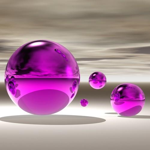 Purple Bowl II von Peter Hillert
