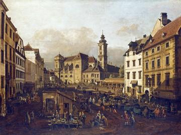 Die Freyung in Wien von Canaletto