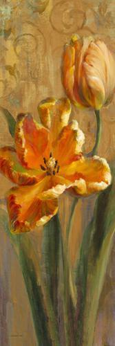 Parrot Tulips on Gold I von Danhui Nai