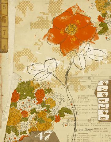 Collaged Botanicals I von Katie Pertiet