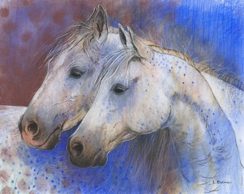 Two Horses von Loes Botman