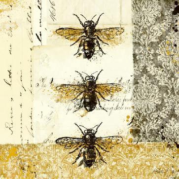 Golden Bees n Butterflies No. 1 von Katie Pertiet