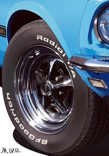 MACH I Blue Detail von Pierre Strapelias - PR