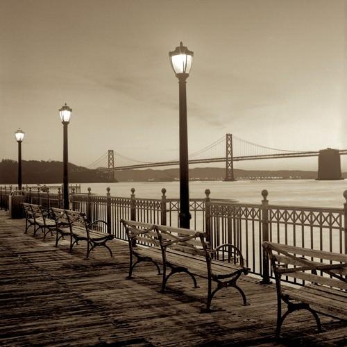 San Francisco Bay Bridge at Dusk von Alan Blaustein