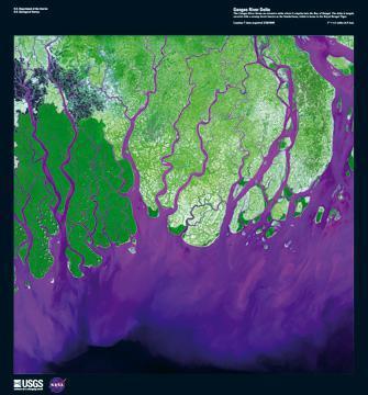 Ganges River Delta von Landsat-7