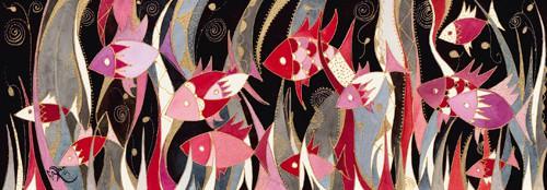 Poissons rouge et gris von Martine Wentzeis