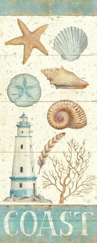 Pastel Coast Panel I von Daphne Brissonnet
