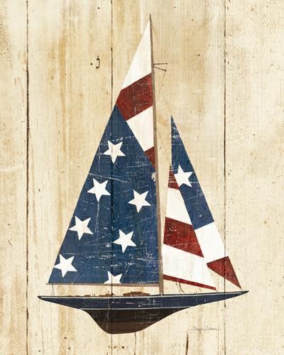 American Flag Sailboat von Avery Tillmon