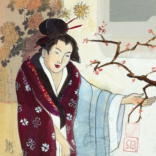 Cherry Blossoms von Sabine Gotzes