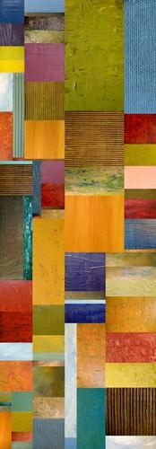 Color Panels with Olive Stripes von Michelle Calkins