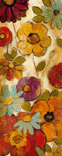 Floral Sketches on Linen I von Silvia Vassileva