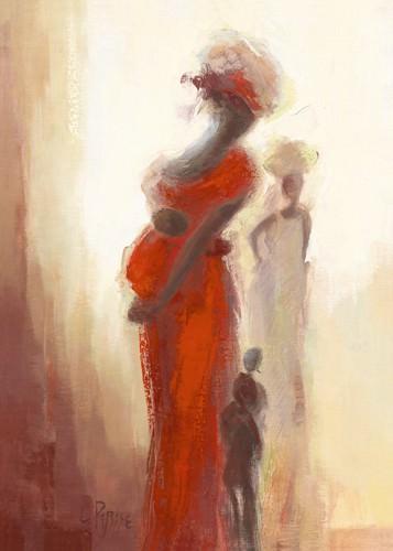 Silhouettes Africaines III von Chantal Parise