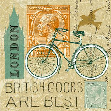 Postcard from London Collage von Sue Schlabach