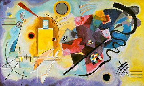 Gelb, Rot und Blau von Wassily Kandinsky