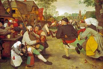 Bauerntanz von Pieter d. Ä. Brueghel