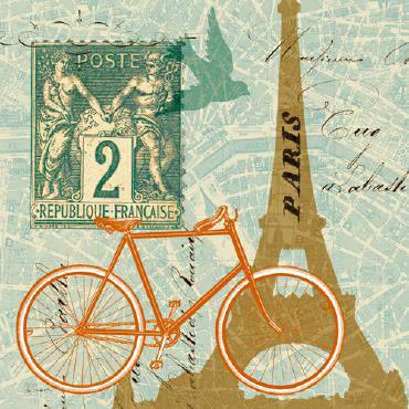 Postcard from Paris Collage von Sue Schlabach
