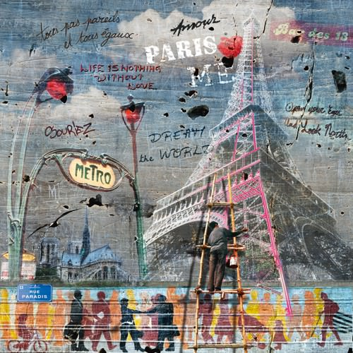 Impressions urbaines: La Tour Eiffel von Maelo / M-L Vareilles