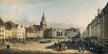 Der Alte Markt in Dresden von Canaletto