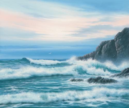 Atlantic Breakers on Cornish Coast von John F Sim