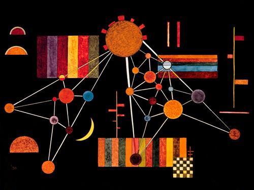 Geflecht von oben von Wassily Kandinsky