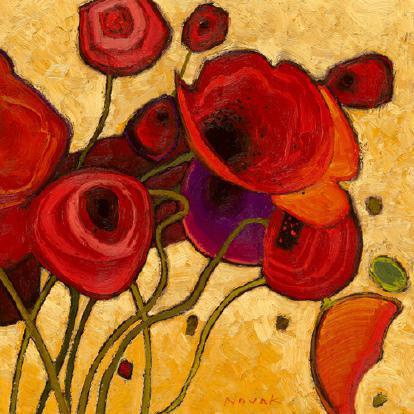 Poppies Wildly II von Shirley Novak