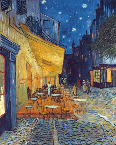 Cafe-Terrasse am Abend von Vincent van Gogh