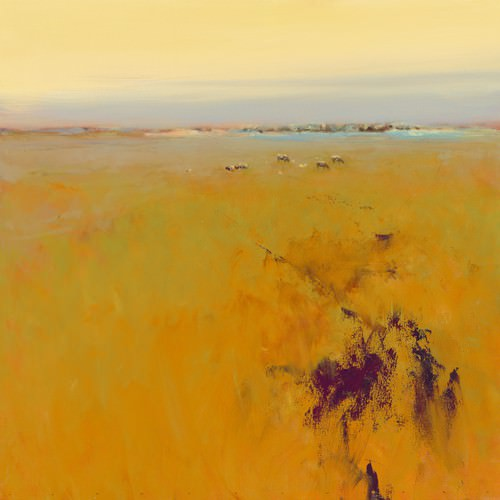 Meadow in warm Colors von Jan Groenhart