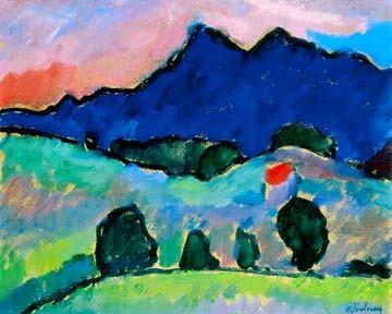 Blauer Berg von Alexej Jawlensky
