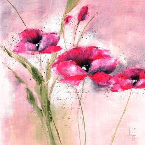 Pink Flower II von Isabelle Zacher-Finet