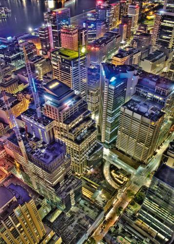 Sydneyes Skyline von Aurelien Terrible