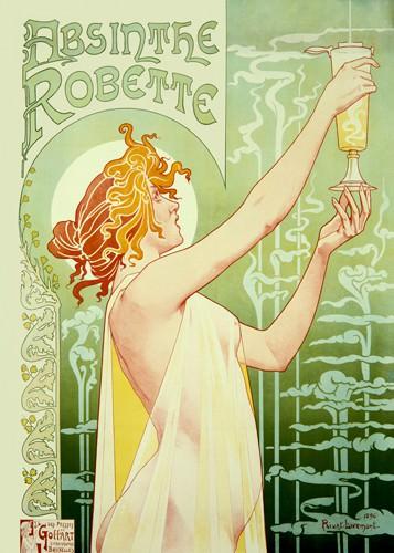 Absinthe Robette von Privat Livemont