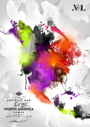 Abstract America, No. 1 von Mikael B. Design