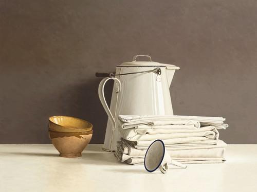 White Can and white Cloths von Willem de Bont