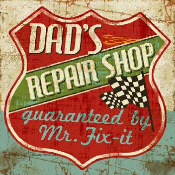 Mancave IV - Dads Repair Shop von Pela Studio