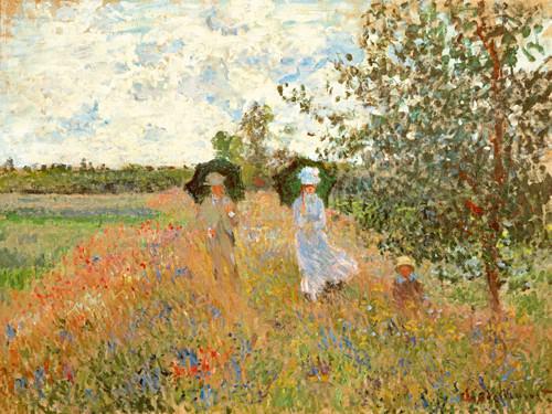 Spaziergang bei Argenteuil von Claude Monet