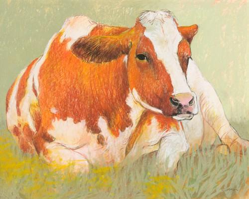 Cow in the Spring von Loes Botman